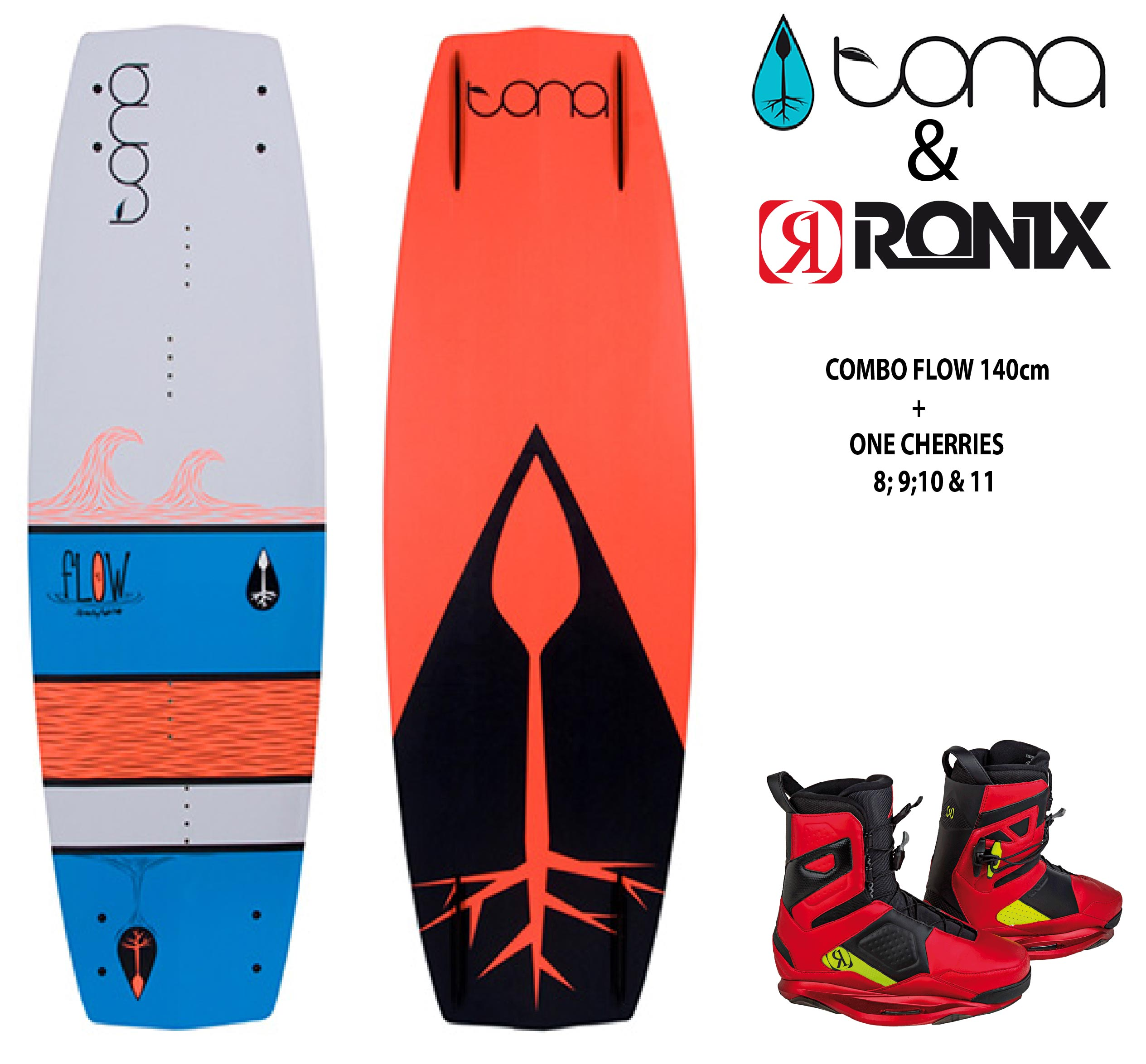 Combo Tona Flow 140cm c/Ronix One Cherries