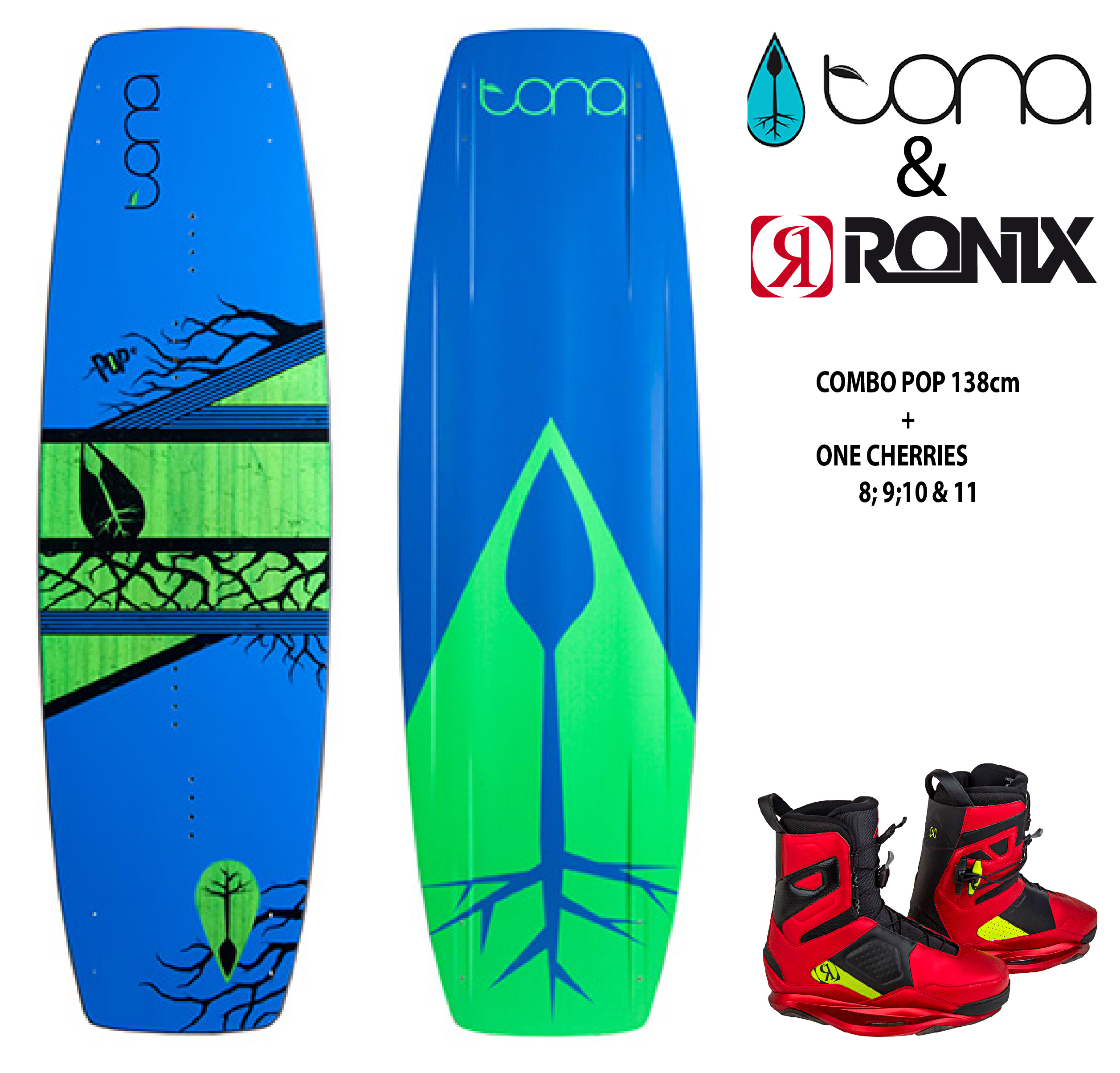 Combo Tona Pop 138cm c/Ronix One Cherries