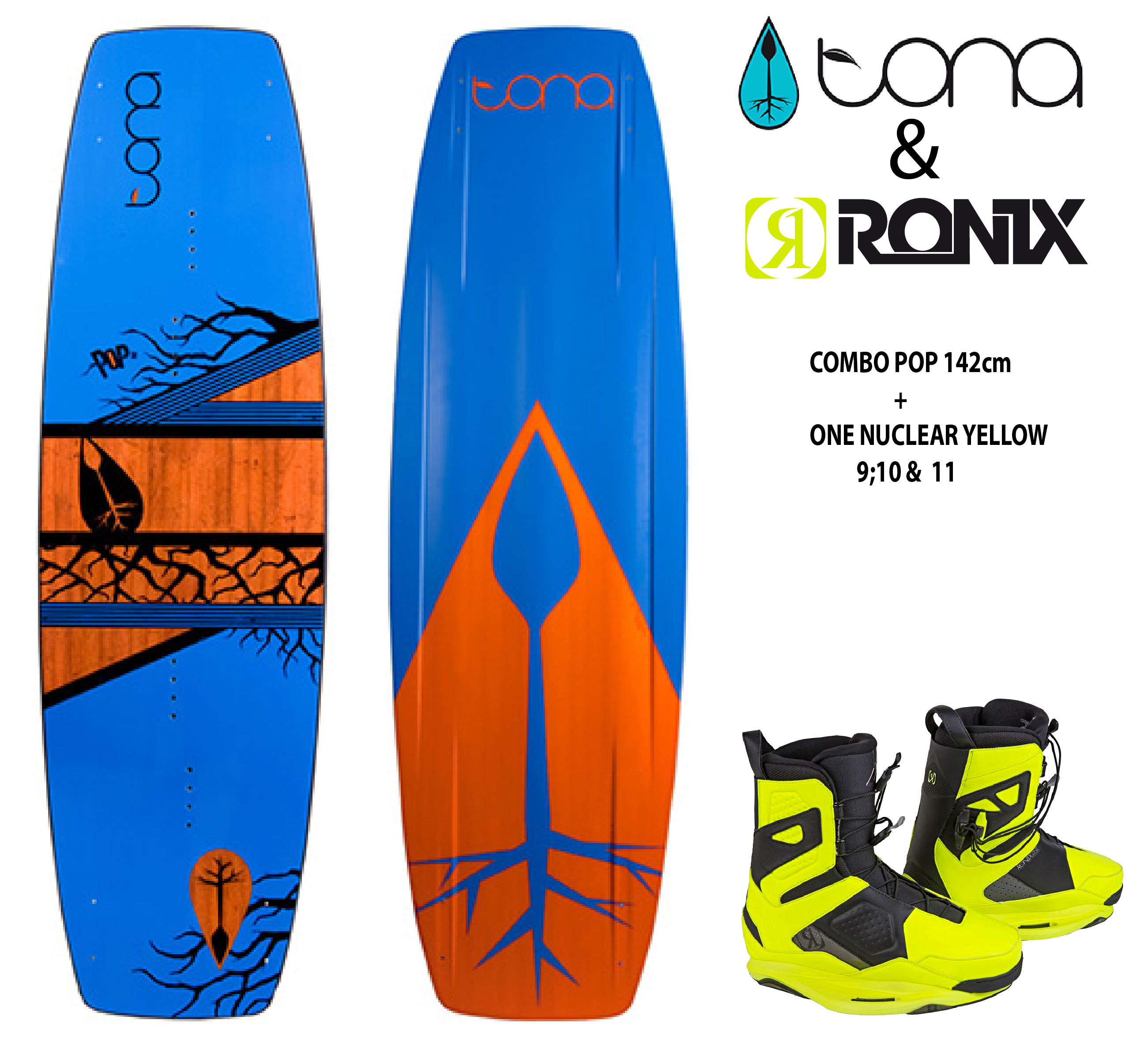 Tona Pop 142cm c/Ronix One Nuclear Yellow